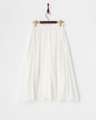 ホワイト インド ボイルスカート見る
