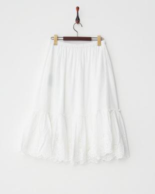 ホワイト インドスカラップスカート見る