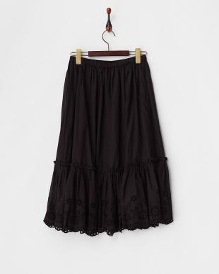 ブラック  インドスカラップスカート見る