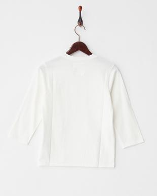 ホワイト  40/2コーマ天竺 7分袖Tシャツ見る