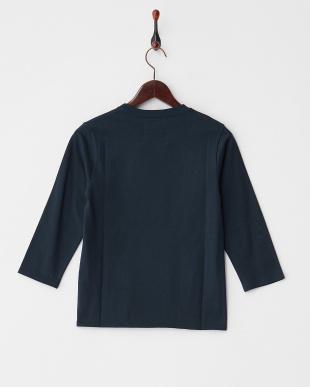 ネイビー  40/2コーマ天竺 7分袖Tシャツ見る