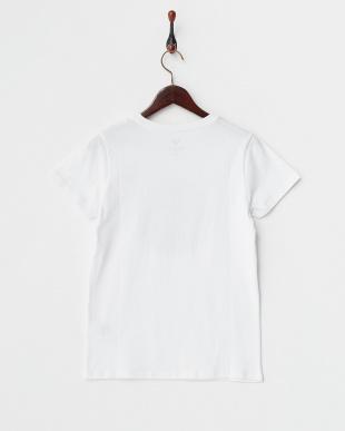 ホワイト  CIRCLE PRINT ロゴ入りTシャツ見る