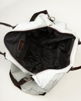 スカイブルー  ジャカードチェック柄大容量バッグ見る