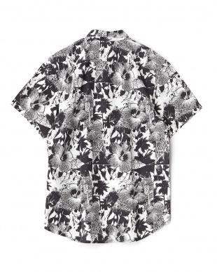 ホワイト×ブラック NEVER WORK SHIRT SS 半袖シャツ見る