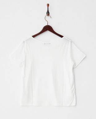 ホワイト シンプル半袖カットソー見る