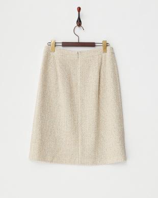 ベージュ  タック入りスカート見る