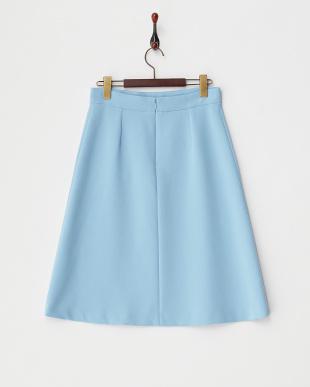 ブルー ストレッチフレアスカート見る