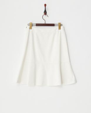 ホワイト 切り替えスカート見る