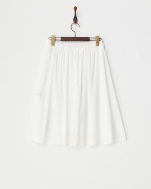 ホワイト ウエストシャーリング ギャザースカート見る