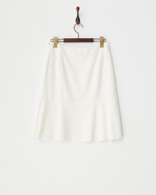 ホワイト 切り替えリネンスカート見る