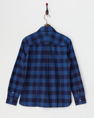 ブルー インディゴレギュラーシャツ見る