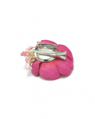 ピンク 花×小花 髪飾り|WOMEN見る