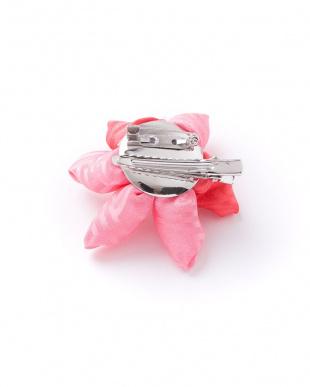 ピンク系 つまみ風フラワー 子供用髪飾り見る