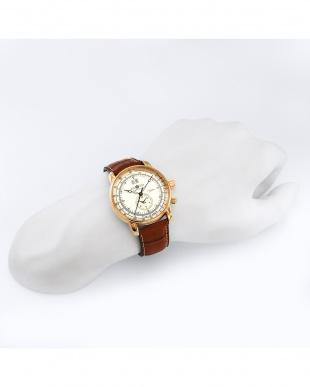 アイボリー 100周年記念モデル クォーツ腕時計見る