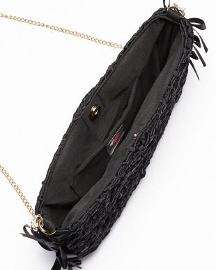 ブラック  Alice リボン編み込みチェーンショルダーバッグ見る