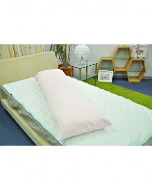 ピンク  FEEL COOL ひんやり接触冷感 抱き枕カバー 50×160cm専用見る