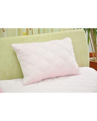 ピンク  [低め]FEEL COOL 抗菌防臭・消臭わた入り ひんやり接触冷感枕見る
