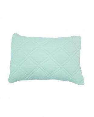 ブルー  [低め]FEEL COOL 抗菌防臭・消臭わた入り ひんやり接触冷感枕見る