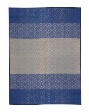 ブルー  フロウ い草ラグ 176×230cm見る