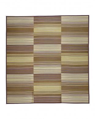 ブラウン  若竹 ウレタン入りい草ラグ 180×240cm見る