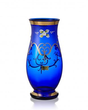 ブルー エーゲルマン ハイエナメル花瓶 25cm見る