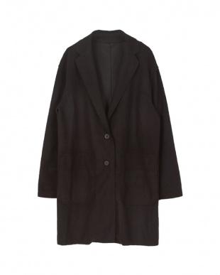 ブラック  オーバーシルエットジャケットコート見る