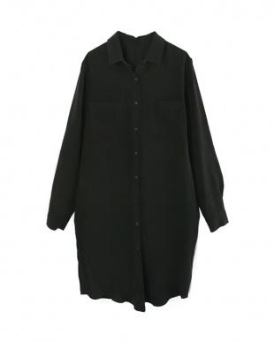 ブラック  ロングシャツ見る