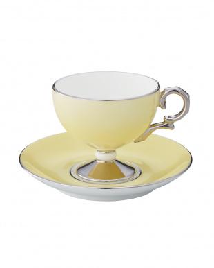 花白露 ティー・コーヒー碗皿ペアセット(イエロー&ブルー)見る
