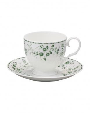 Green Sarasa ティー・コーヒーカップ&ソーサーペアセット見る
