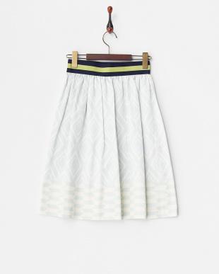 ブルー  セネガルバスケット スカート見る