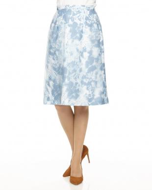 ブルー  カモフラオーガンジースカート見る