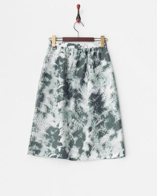グリーン  カモフラオーガンジースカート見る