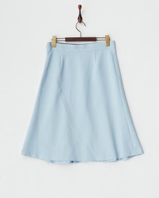 BLU ピンストライプミディスカート見る