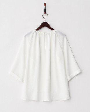 WHITE  DRY TWILL WASHER GATHER TOP見る