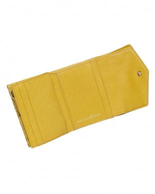 イエロー  キングスレタートーン 三つ折り財布見る