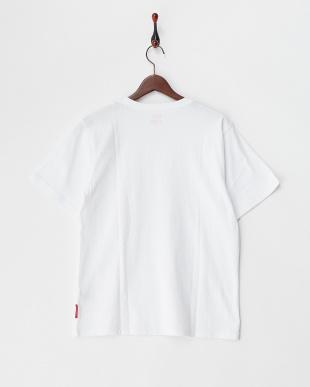 ホワイト  ボックスプリント半袖Tシャツ見る