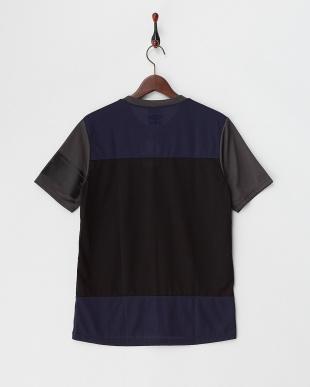 グレー  カラーブロックTシャツ見る