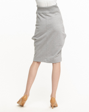 ライトグレー  ノットデザインスウェットスカート見る