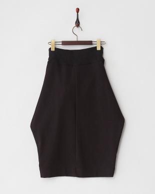 ブラック  ノットデザインスウェットスカート見る
