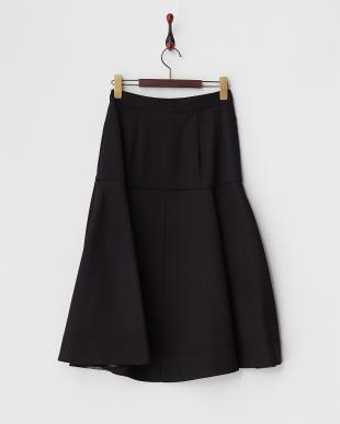 ブラック  Wクローズフレアスカート見る