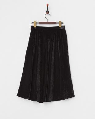 ブラック  ベルベットフレアラインスカート見る