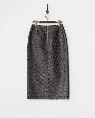 ブラック  ファインパターンジャガードタイトスカート見る