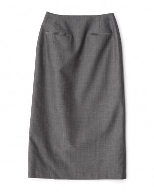 チャコールグレー ハンサムラップスカート見る