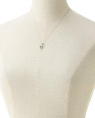 K18WG×ダイヤモンド 0.2ctデザインネックレス見る