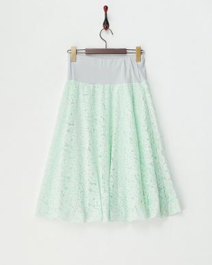 グリーン レースバルーンスカート見る