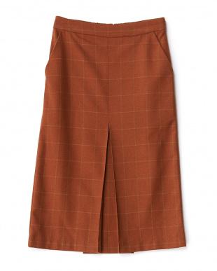 BRICK  ウインドウペンタイトスカート見る