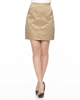 BEIGE 綿ツイル台形スカート見る