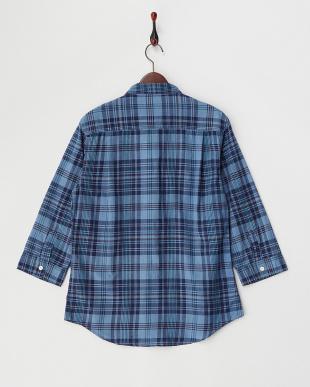 ガラ6  インデイゴチェックシャツ見る