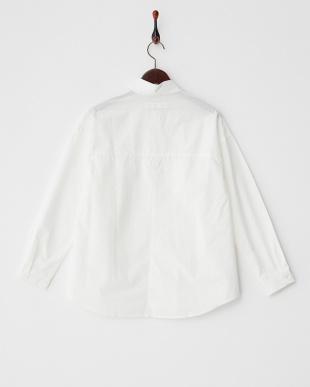 オフホワイト  ブロードロングスリーブシャツ見る