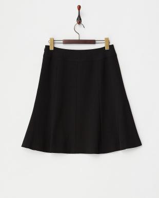 ブラック  切替フレアスカート見る